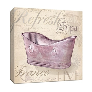 """PTM Images 9-146774  PTM Canvas Collection 12"""" x 12"""" - """"Spa"""" Giclee Tubs Art Print on Canvas"""