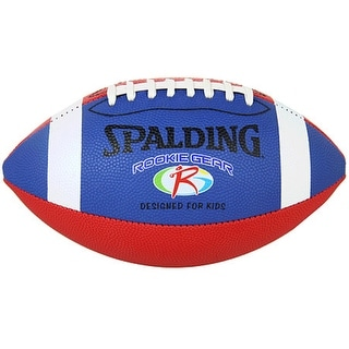 Spalding Rookie Gear Pee Wee Composite Football - Blue/Red