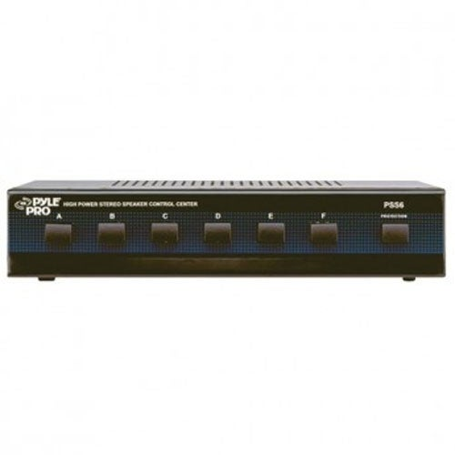 """""""pyle audio T52580B Pyle Home PSS6 6-Channel High Power Stereo Speaker Selector"""""""
