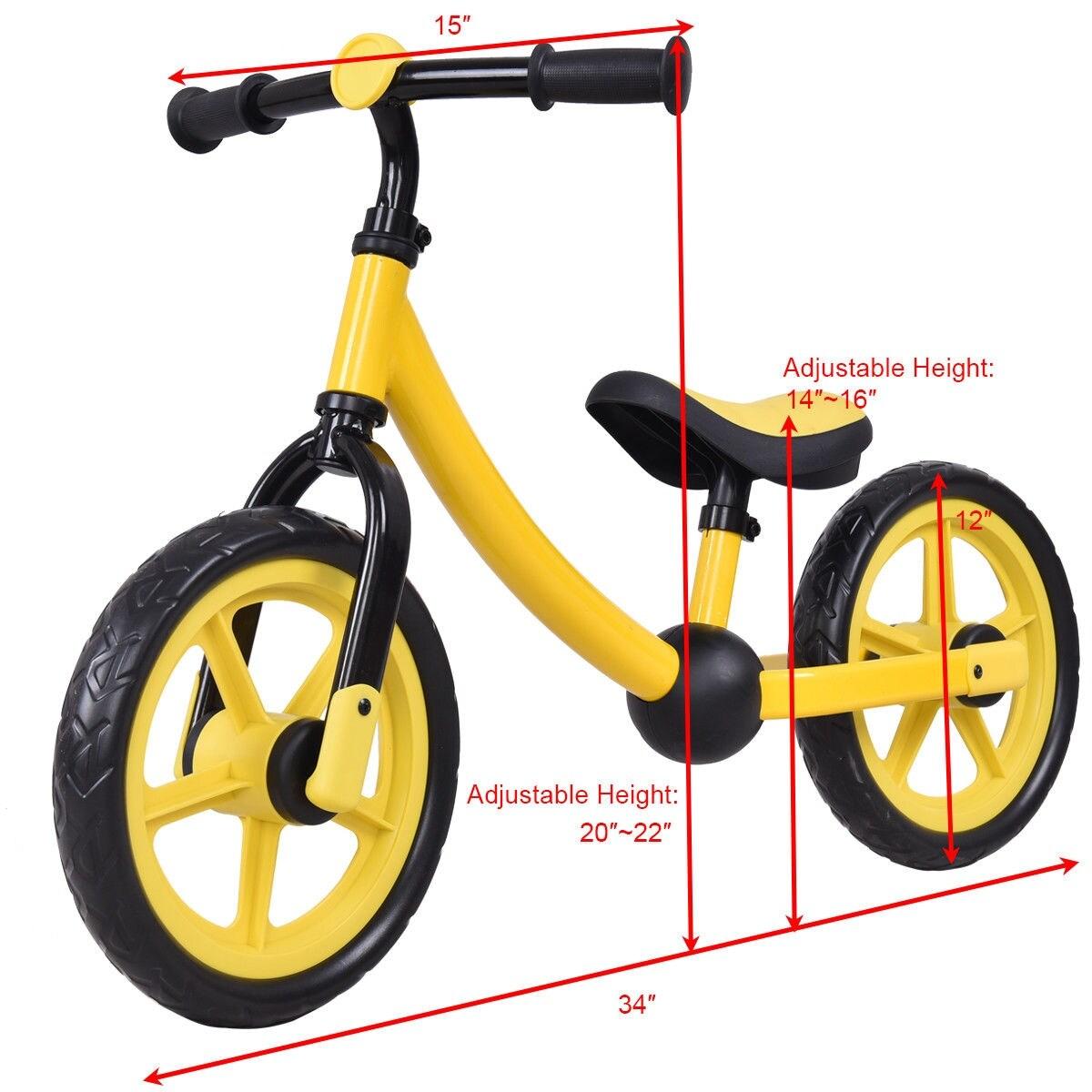 12 Kids Sport Balance Bike No Pedal Ride Pre Bike W Adjustable