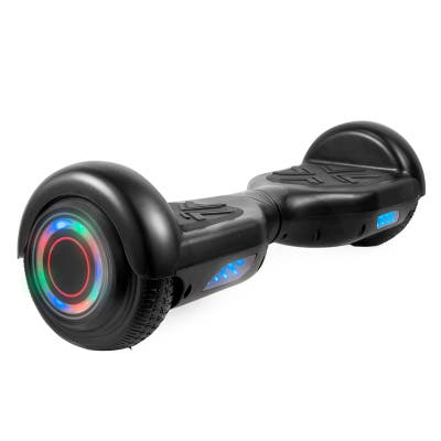 Hoverboard with LED Wheels/Rims and Bluetooth Speakers in Black