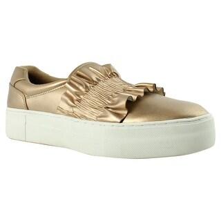 Indigo Rd. Womens Lillian Gold Fashion Shoes Size 8.5