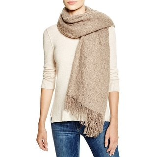 Aqua Ladies Taupe Brown Soft Blanket Wrap One Size - One Size