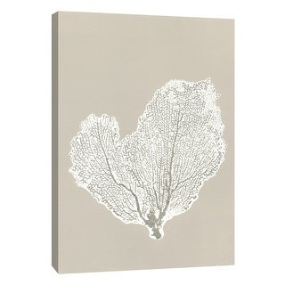 """PTM Images 9-105219  PTM Canvas Collection 10"""" x 8"""" - """"Sea Fan 4"""" Giclee Botanical Art Print on Canvas"""