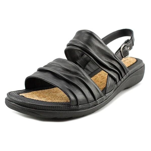 Hush Puppies Minetta Keaton WW Open-Toe Leather Slingback Sandal