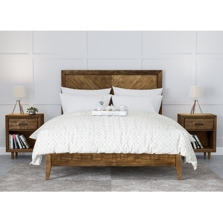 Abbyson Retro Mid Century 3 Piece Bedroom Set