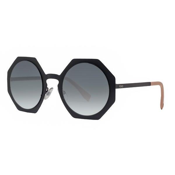 8262b1ab73 Fendi FF 0152 S 003 JJ Facets Matte Black Grey Gradient Geometric Sunglasses  - MATTE