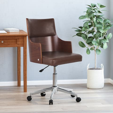 Rhine Indoor Upholstered Swivel Office Chair by Christopher Knight Home