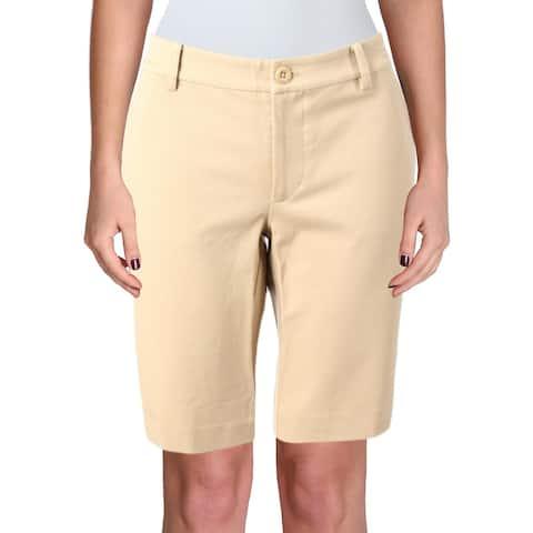 6d4b66a29 Lauren Ralph Lauren Womens Shorts Flat Front Stretch