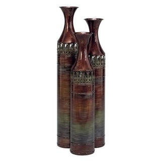 Aspire Home Accents 63575 Tall Slender Floor Vases (Set of 3)