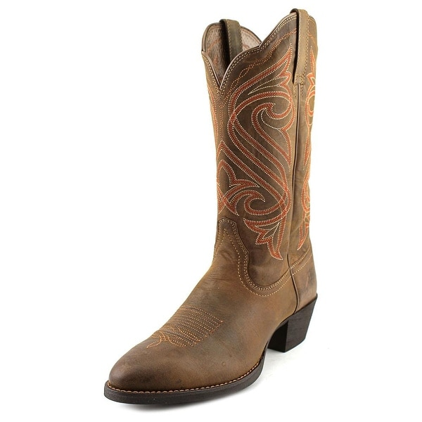 Ariat Round Up R Toe   Square Toe Leather  Western Boot