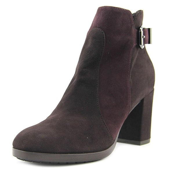 Aquatalia By Marvin K Elianna Women Round Toe Suede Brown Ankle Boot