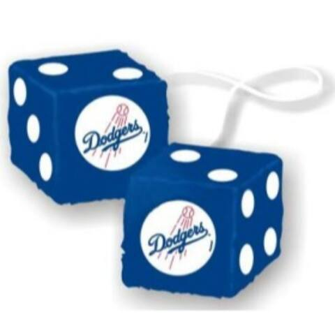 Los Angeles Dodgers Fuzzy Dice