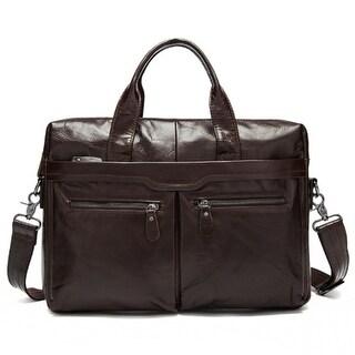 Link to One-Shoulder Briefcase Leather Men's Handbag Similar Items in Briefcases