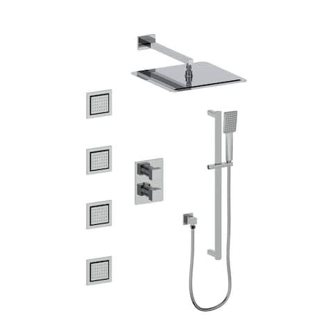 ZLINE Crystal Bay Thermostatic Shower System with Body Jets (CBY-SHS-T3)
