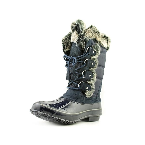 Khombu Bryce Women Round Toe Synthetic Blue Snow Boot