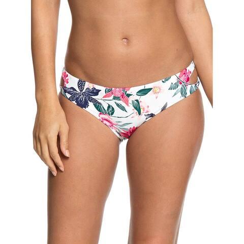 Roxy Junior's Urban Waves Full Bikini Swimsuit Bottom (White, XS) - X-Small