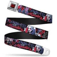 Suicide Squad Logo Full Color Black Red Suicide Squad 2 Harley Quinn Poses Seatbelt Belt