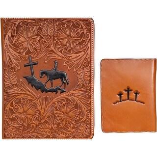 3D Western Bible Cover Cowboy 7 3/4 x 2 x 10 1/4 Natural