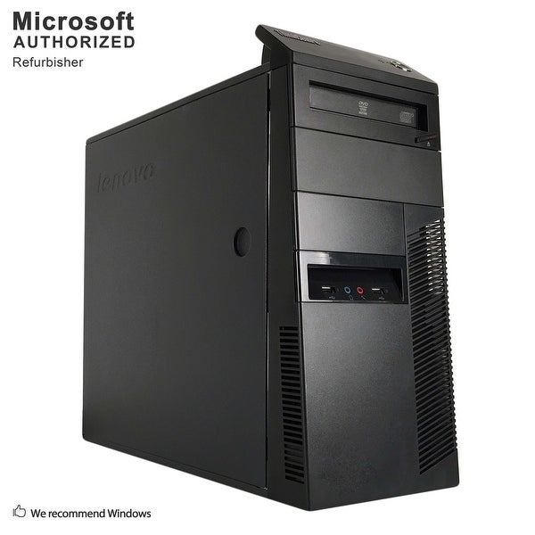 Lenovo M81 TW, Intel Core i3-2100 3.1GHz, 12GB DDR3, 240GB SSD, DVD, WIFI, BT 4.0, HDMI, W10H64 (EN/ES)-Refurbished