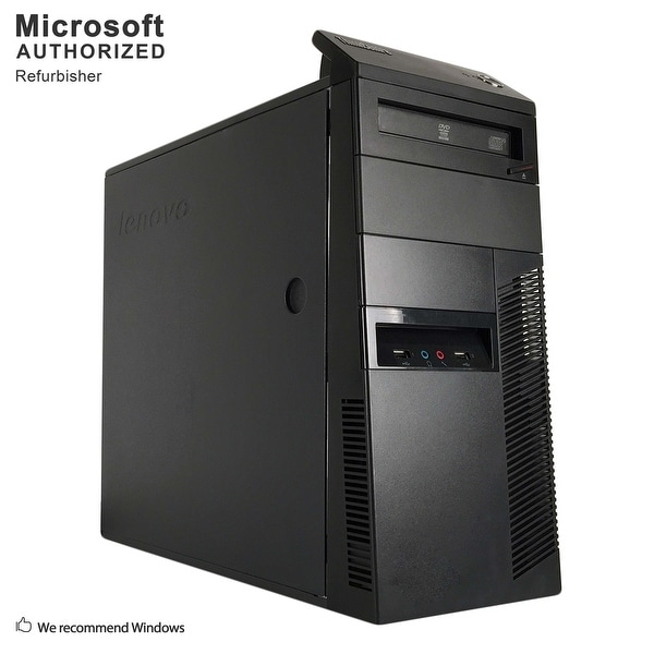 Lenovo M81 TW, Intel Core i3-2100 3.1GHz, 12GB DDR3, 360GB SSD, DVD, WIFI, BT 4.0, HDMI, W10H64 (EN/ES)-Refurbished