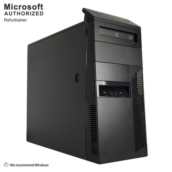 Certified Refurbished Lenovo M81 TW, Intel i5-2400 3.1G, 12GB DDR3, 120GB SSD+3TB HDD, DVD, WIFI, BT 4.0, HDMI, W10P64 (EN/ES)