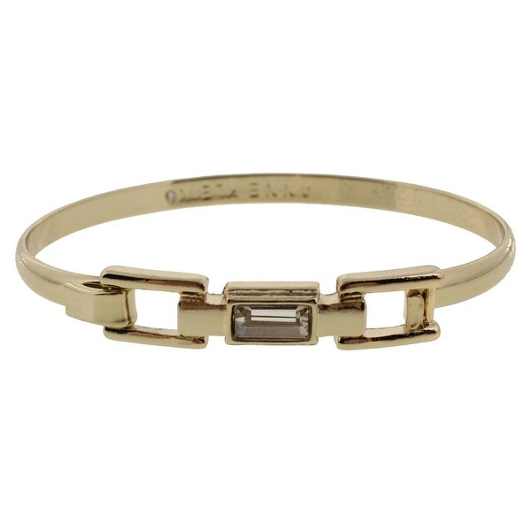 Anne Klein Womens Bangle Bracelet Crystal Metal - Gold