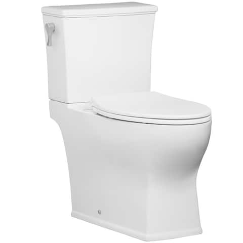 Mirabelle MIRCR200 Carraway 1.28 GPF Two-Piece Elongated Toilet Tank Only with High Efficiency Flush