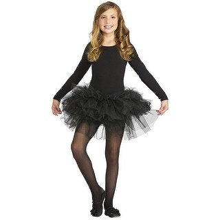 Fluffy Tutu Child's Costume Black