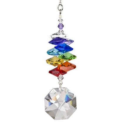 Woodstock Rainbow Makers Crystal Cascade Suncatcher Genuine Austrian Octagon