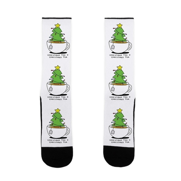 Christmas Tea O Christmas Tea US Size 7-13 Socks by LookHUMAN