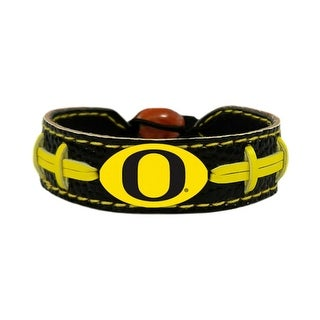 Oregon Ducks Team Color NCAA Gamewear Leather Football Bracelet