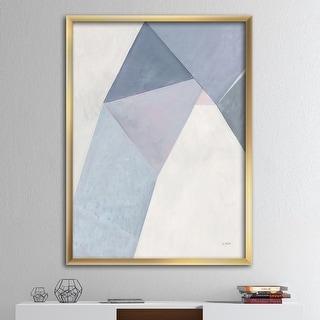 Link to Designart 'Purple Geometric Bridge II' Mid-Century Modern Framed Art Print Similar Items in Art Prints