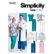 Xl Xxl Xxxl - Simplicity Women's And Men's Scrub Top;