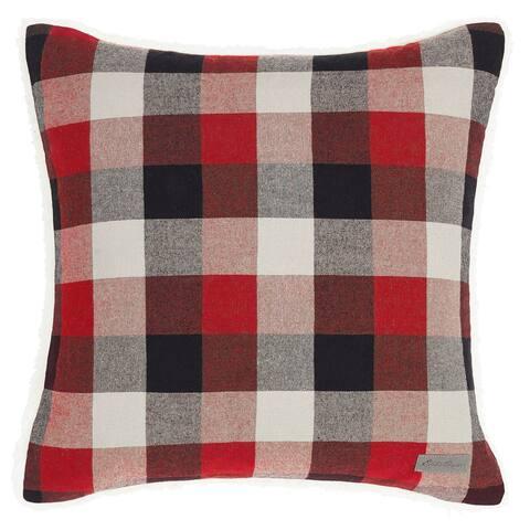 Eddie Bauer Ashwood Plaid Red Throw Pillow