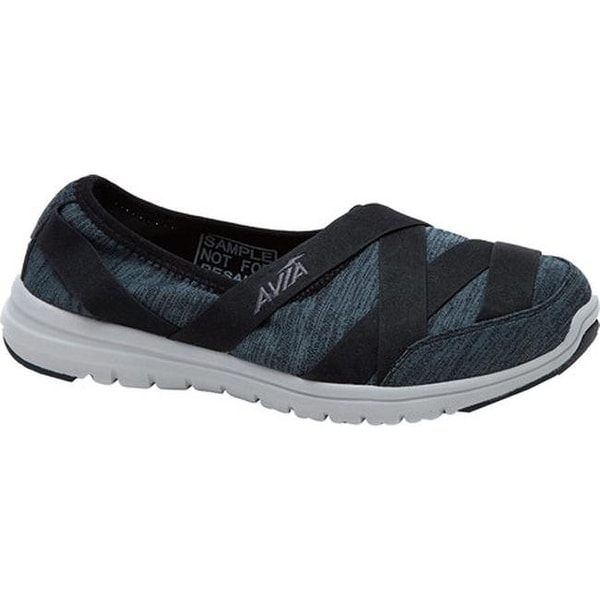 Avia Women's Avi-Aura Slip-On Shoe Black/Iron Grey/Cool Mist Grey