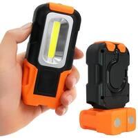 Portable LED Work Light, COB Flashlight, Battery-operated 5000K