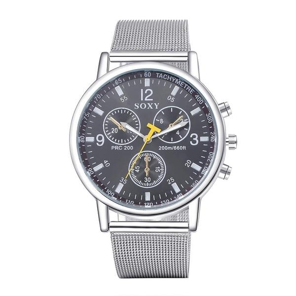 Titanium Inspired Classic Watch- Onyx - White