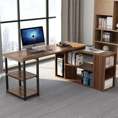 L-Shaped Computer Desk, Rotating Corner Desk
