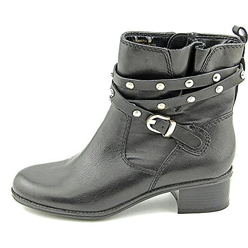 Shop Bandolino Women S Cameria Leather Motorcycle Boot Ships To