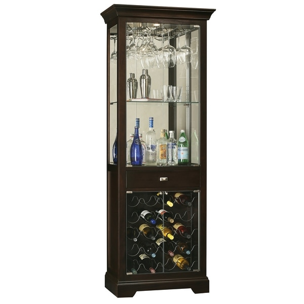 Howard Miller Black Solid Wood Liquor and Wine Cabinet. Opens flyout.