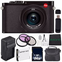 Leica Q (Typ 116) Digital Camera + Replacement Lithium Ion Battery + External Rapid Charger + 64GB SDXC Memory Card Bundle
