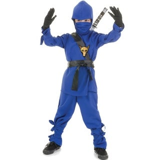 Underwraps Secret Ninja Child Costume (Blue) - Solid