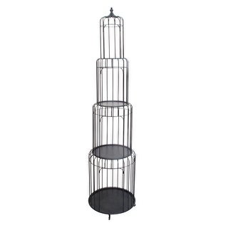 Shop 73 Inch Tall Stacking Birdcage Style Metal Shelf Free