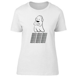 Cool Ghost, Freestyle Dance And Music Women's Gold T-shirt