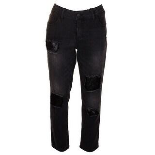 Dollhouse Juniors Black Charley Rip And Repair Skinny Jeans 15