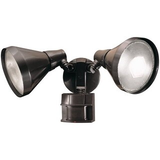 Heath Zenith SL-5412 2 Light 180 Degree Motion Activated Twin Flood Security Lig - Bronze
