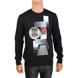 Dior Homme Men's Pharoah Graphic Lightweight Cotton Crewneck Sweatshirt Black