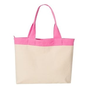 HYP 15.3L Zippered Tote - Natural/ Flamingo - One Size