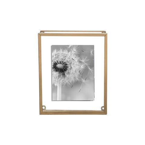 Foreside Home & Garden 5 x 7 inch Oversized Decorative Brass Metal Picture Frame